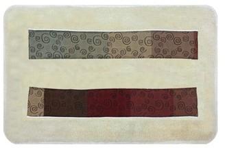Popular Bath Miramar Bath Collection - 21 x 32 Banded Bathroom Rug
