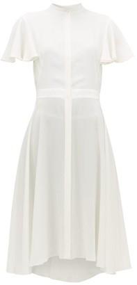 Alexander McQueen Waved Silk-crepe Dress - White