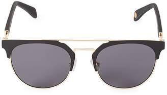 Balmain 52MM Browline Cat Eye Aviator Sunglasses