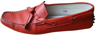 Tod's Gommino Red Leather Flats