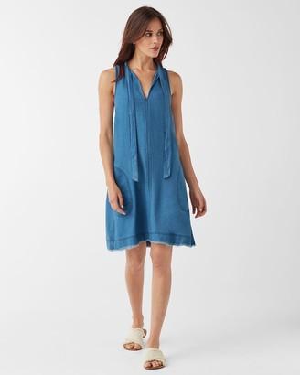 Splendid Crosshatch V-Neck Tie Dress