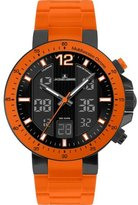Jacques Lemans Men's 1-1726H Milano Sport Analog-Digital Silicon Strap Watch