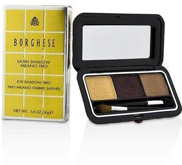 Borghese NEW Satin Shadow Milano Trio - # 06 Romantico Brown 4g Womens Makeup