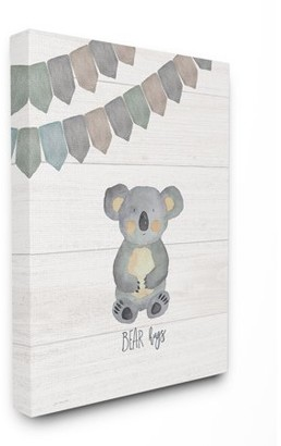 The Kids Room by Stupell Bear Hugs Stretched Canvas Wall Art, 16 x 1.5 x 20