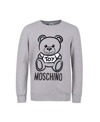 Moschino Outline Bear Sweat Colour: GREY, Size: Age 4