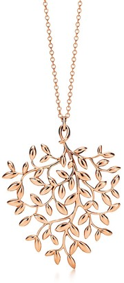 Tiffany & Co. Paloma Picasso Olive Leaf pendant in 18k rose gold, large