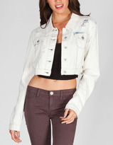 Tinseltown Womens Bleached Denim Jacket
