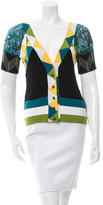 Just Cavalli Patterned Silk-Accented Top