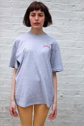 The English Tee Shop - Chase Rainbows Grey Tee - Black Embroidery - Grey