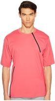 Yohji Yamamoto M Jersey Zip Tee Men's T Shirt