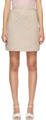 Fendi Pink Quilted Daisies Miniskirt