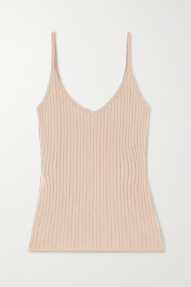Arch4 Ribbed Cashmere Tank - Sand