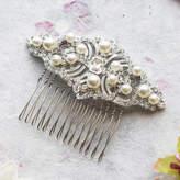 Luella Anusha Crystal And Pearl Hair Comb