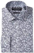 Nick Graham Floral Print Trim Fit Dress Shirt
