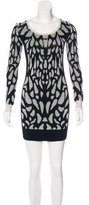 Diane von Furstenberg Wool Patterned Dress