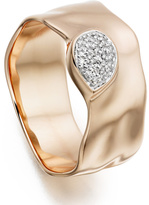 Monica Vinader Siren Diamond Wide Band Ring
