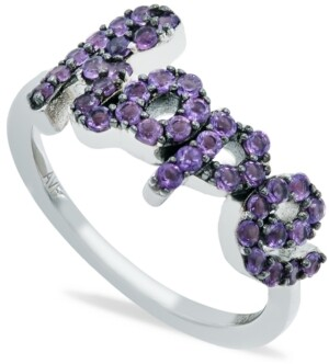 Macy's Amethyst (1 ct. t.w.) 'Hope' Ring in Sterling Silver