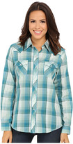 Roper 9735 Green & Blue Plaid w/ Lurex