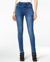 Tinseltown Juniors' 2-Button High-Waist Skinny Jeans