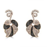 Effy Jewelry Effy 14K Rose Gold Black and White Diamond Earrings, 3.27 TCW