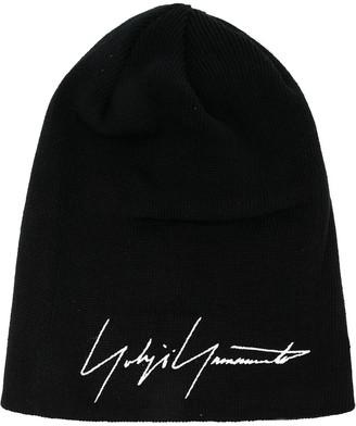 Yohji Yamamoto Embroidered Signature Beanie