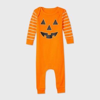 Nobrand Baby Halloween Pumpkin Skeleton Matching Family Union Suit -