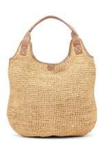 Flora Bella Aptos Crochet Straw & Leather Trim Tote