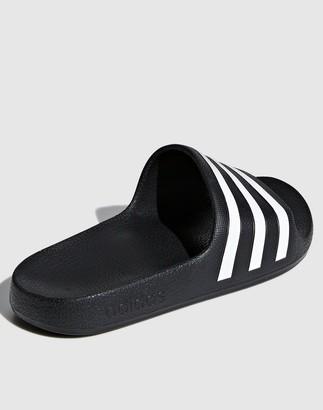 adidas Adilette Aqua Sliders - Black/White