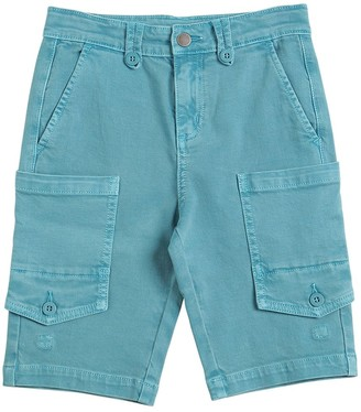 Stella Mccartney Kids Stretch Cotton Cargo Denim Shorts