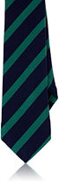 Alexander Olch MEN'S STRIPED COTTON JERSEY NECKTIE