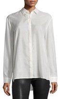 ATM Anthony Thomas Melillo Long-Sleeve Batiste Boyfriend Shirt