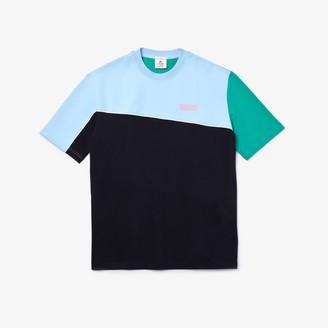 Lacoste Unisex LIVE Colorblock Cotton And Neoprene T-shirt