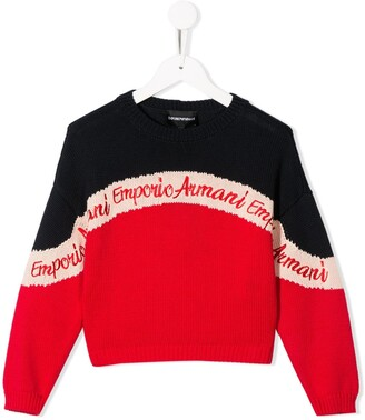 Emporio Armani Kids Colour-Block Jumper