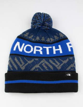 The North Face Ski Tuke V Blue Mens Pom Beanie