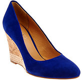Franco Sarto As Is Suede Cork Wedge Pumps - Calix