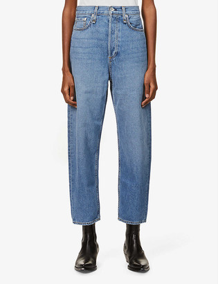 Rag & Bone 90s Tapered Mid-Rise Stretch-Denim Jeans