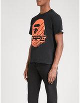 A Bathing Ape Mens Black Printed Bmx 01 Cotton-Jersey T-Shirt
