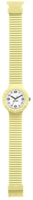 Watch HIP HOP Woman Numbers Collection dial White e watchband in Silicone Yellow Movement TIME JUST - 3H Quartz