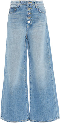 Eve Denim Charlotte High-Rise Cropped Wide-Leg Jeans