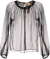 No.21 beaded sheer blouse
