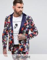 Reclaimed Vintage Inspired Blazer In Floral Print