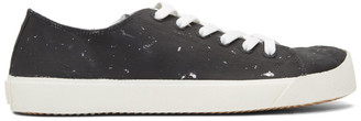 Maison Margiela Black and Silver Defile Vandal Tabi Sneakers