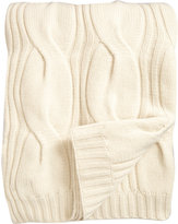Barneys New York Cable Knit Throw