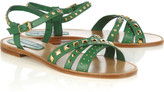 Vanessa Bruno Athé Studded leather flat sandals
