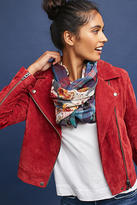 Anthropologie Floral & Plaid Infinity Scarf
