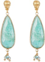 Thumbnail for your product : Gas Bijoux Serti Goutte Turquoise Teardrop Earrings