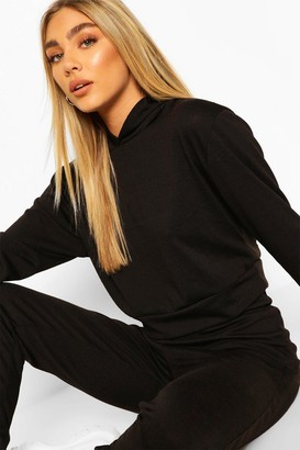 boohoo Melange Knitted Hoody And Jogger Co-Ord Set