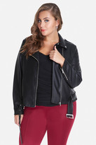 Fashion to Figure Drexel Faux Leather Moto Jacket