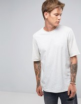 Weekday Fold Up Tee Contrast Reverse Roll Up T-Shirt
