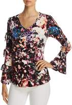 Cupio Tie-Sleeve Printed Top
